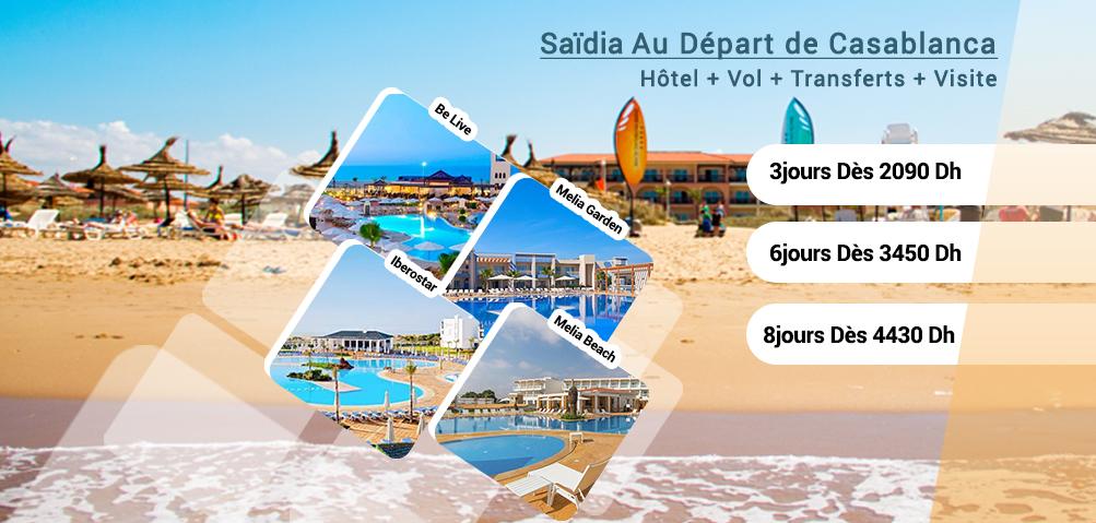 Saidia Au Départ de Casablanca